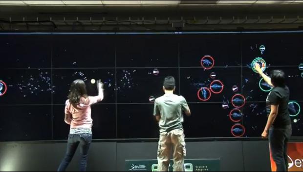 Tela multi-touch gigante (Foto: Divulgação)