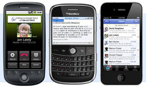 Google Voice em celulares (Foto: Divulgação)