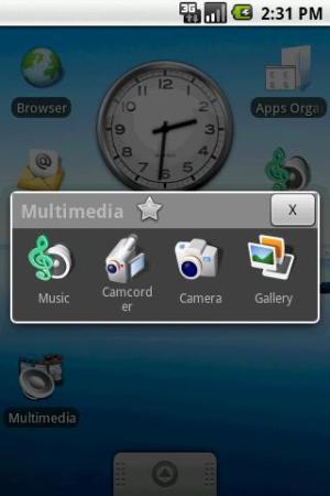 Atalho de multimedia aberto na tela inicial do smartphone (Foto: Divulgação)