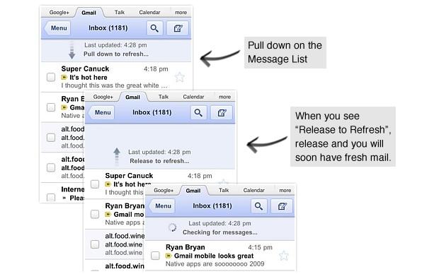Versão móvel do Gmail (Foto: Divulgação)