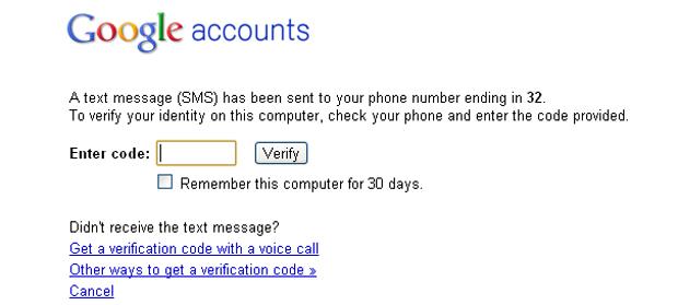 Verificação em duas etapas - o código enviado para o celular deve ser informado para continuar (Foto: Reprodução/TechTudo)