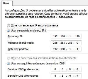 Configurando um IP fixo (Foto: Reprodução/Helito Bijora)