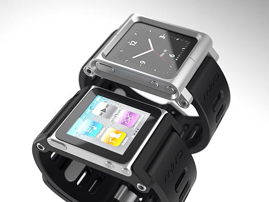 Cases para iPod Nano Touch em formato de pulseira de relógio da LunaTik (Foto: Divulgação)