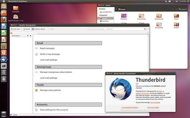 Ubuntu 11.10 com Thunderbird 6 (Foto: Reprodução/Softpedia)