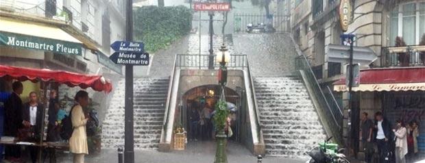 Escadaria se transforma em cascata e vai para o Youtube