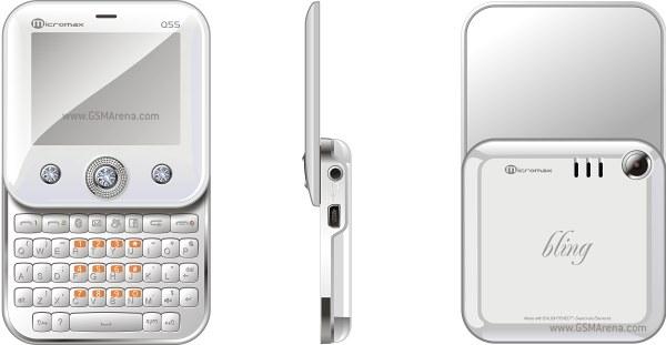 Micromax Q55 Bling, o celular com teclas cravejadas com brilhantes de zircônia da Swarovski (Foto: Divulgação)
