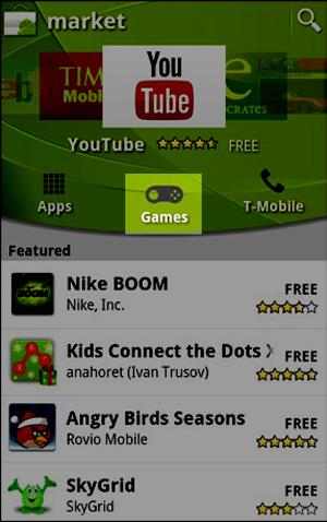 Seção Games da Android Market (Foto: Reprodução/ Teresa Furtado)
