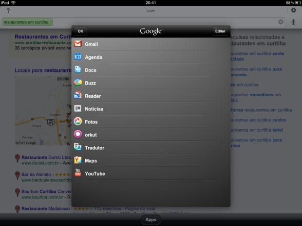 Outros serviços Google (Foto: Reprodução/Camila Porto)