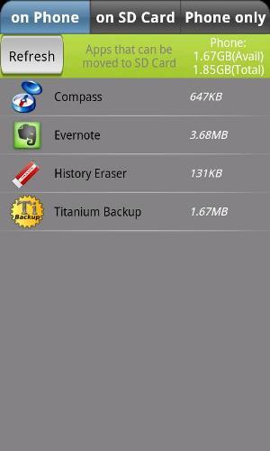 App2SD - Aplicativos que permitem serem movidos para o cartão SD (Foto: Divulgação)
