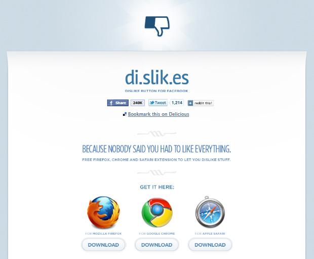 Página do di.slik.es (Foto: Reprodução)