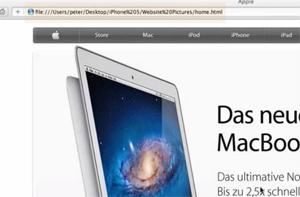 Suposto site do iPhone 5 (Foto: Reprodução)