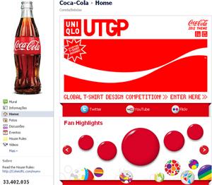 Página da Coca-Cola no Facebook. (Foto: Produção)