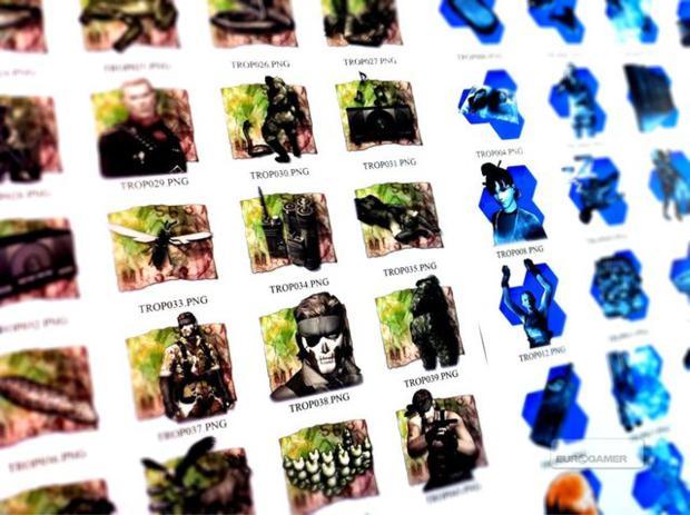 Ícones de conquistas para MGS HD Collection (Foto: Divulgação)