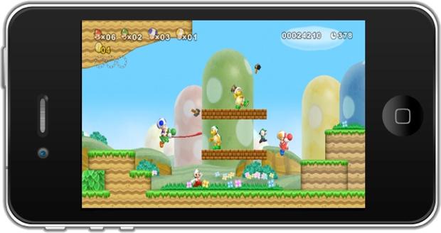 Montagem mostra game da Nintendo no iPhone (Foto: Divulgação)