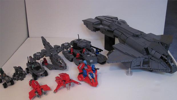 Fã dá uma idéia de como poderia ser um LEGO Halo (Foto: joystiq)
