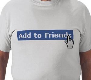 Pedido de amizade, pelo Facebook. (Foto: Reprodução)
