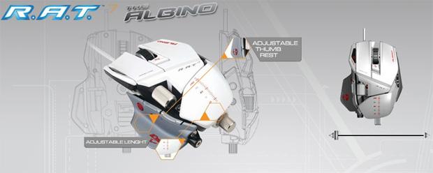 Mad Catz Cyborg R.A.T. 7 Gaming Mouse Albino Edition (Foto: Divulgação)