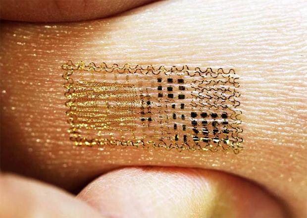 Tatuagem eletrônica (Foto: John A. Rogers)