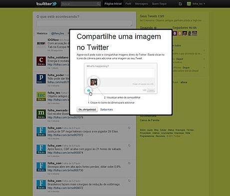 Serviço de upload de fotos do microblog (Foto: Divulgação)