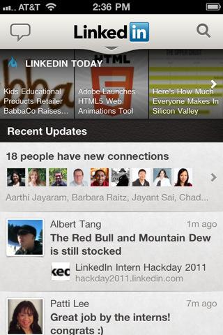 LinkedIn no iPhone (Foto: Divulgação)