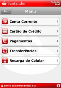 App do Santander (Foto: Divulgação)