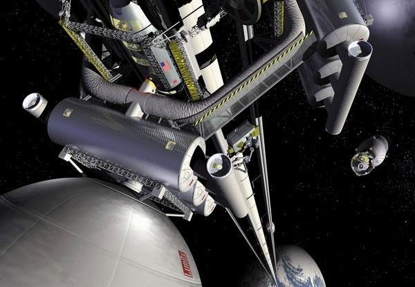 Elevador espacial. (Foto: Divulgação)