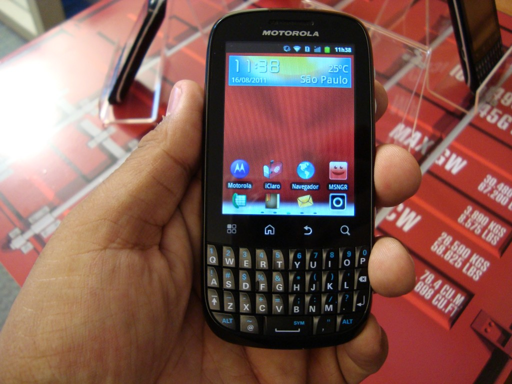 Motorola Spice Key (Foto: Eduardo Moreira)