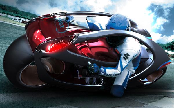 Moto futurista da Hyundai e do designer Min Seong Kim. (Foto: Divulgação)