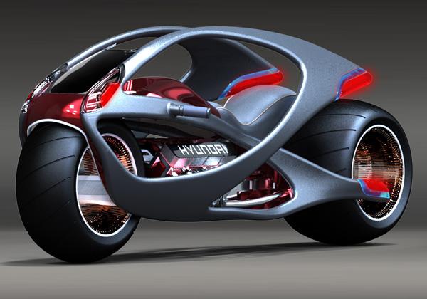 Moto futurista da Hyundai. (Foto: Divulgação)