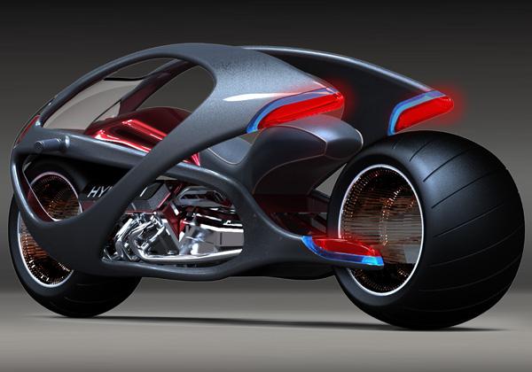 Moto futurista conceito, da Hyundai. (Foto: Divulgação)