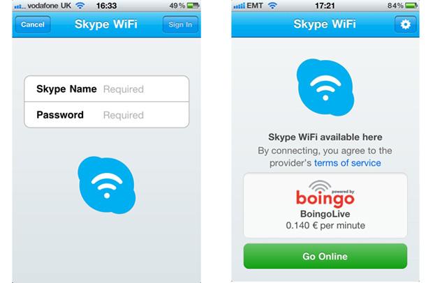 App do Skype WiFi no iPhone (Foto: Divulgação)