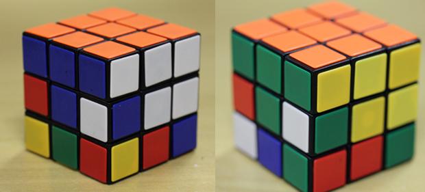 Imagem 3: finalizar uma face do cubo e arrumar as primeiras linhas das laterais (Foto: Reprodução)