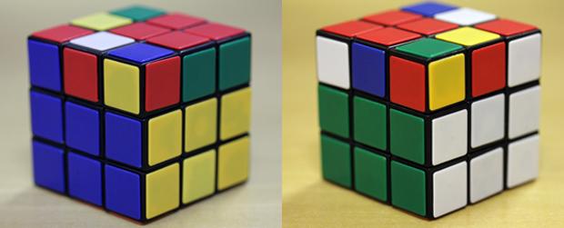 Imagem 5: duas primeiras linhas finalizadas para os quatro lados do cubo (Foto: Reprodução)