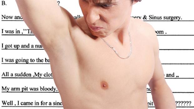 Homem descobre GPS implantado na axila. (Foto: Reprodução)