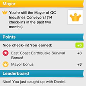 Foursquare dá bônus pós-terremoto (Foto: Reprodução)