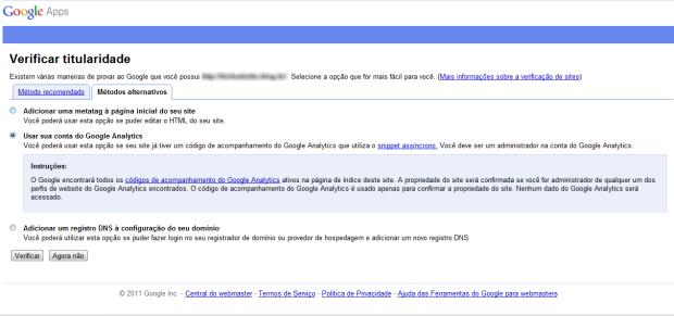 Utilizar conta do Google do Google Analitycs. (Foto: (Foto: Reprodução/Juliane Costa))