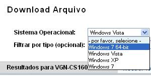 Selecione o sistema operacional (Foto: Reprodução)