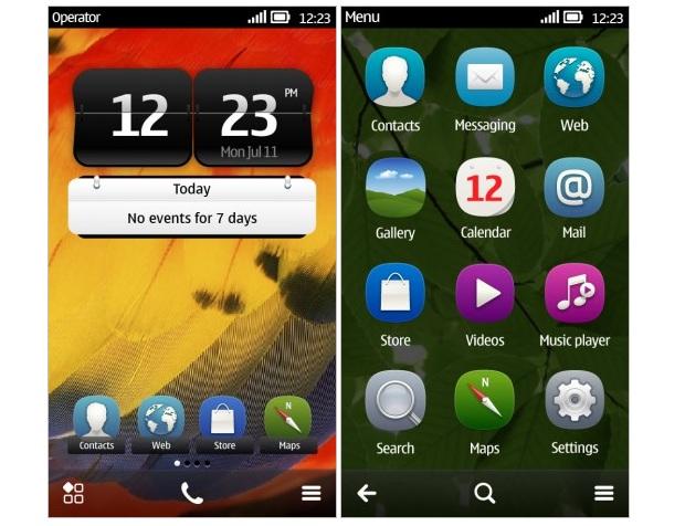 Novo Symbian Belle ganhou uma repaginada no visual e na forma de se interagir com o telefone (Foto: Divulgação)