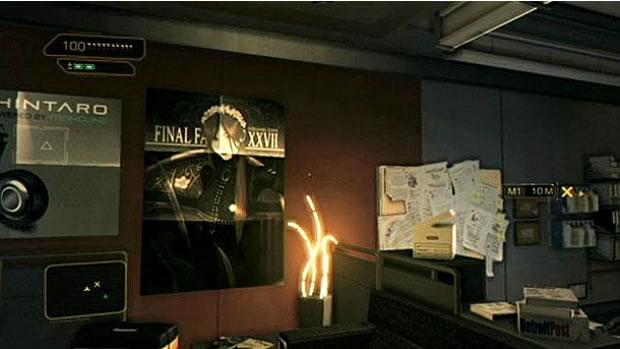 Final Fantasy XXVII aparece em Deus EX (Foto: GameInformer)