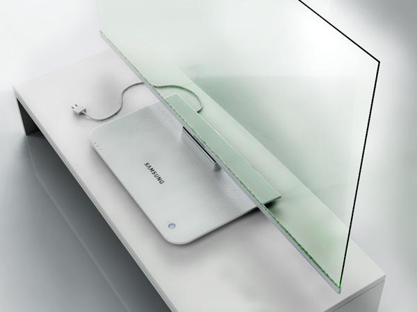 Tela transparente da Samsung MSTV 3-D TV (Foto: Divulgação)
