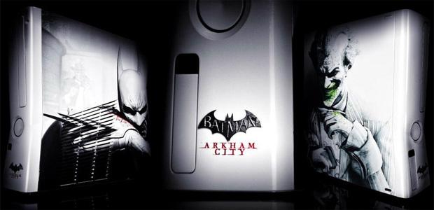 Xbox 360 com visual de Batman será sorteado na PAX 2011 (Foto: Examiner)
