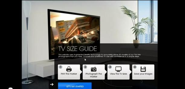 Aplicativo da Sony usa realidade aumentada para virtualizar uma TV na sua sala (Foto: Reprodução)