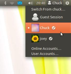 Novo menu de usuário. (Foto: OMG! Ubuntu)