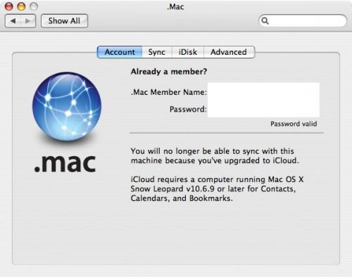 iCloud para OS X Snow Leopard? (Foto: Reprodução/MacRumors)