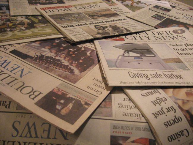 Seriam os jornais em papel os salvadores da crise energética? (Foto: Reprodução)
