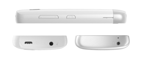 Vista lateral, superior e inferior do Nokia C5-03, em sentido horário (Foto: Divulgação)