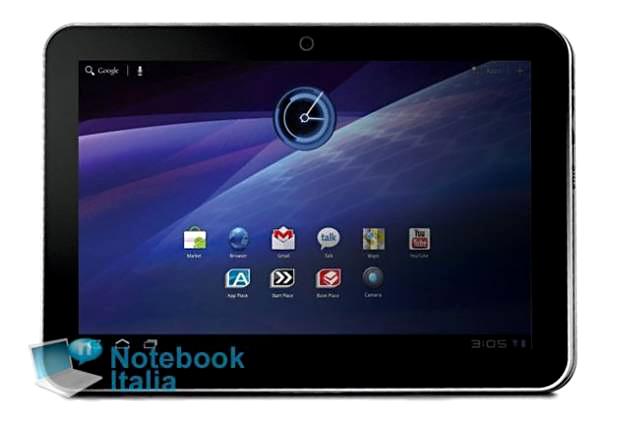 Novo tablet da Toshiba poderá concorrer com o iPad 2 (Foto: Reprodução/Notebook Italia)