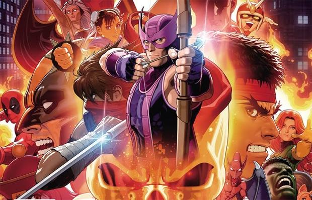 Gavião Arqueiro é uma das novidades em Ultimate Marvel vs. Capcom 3 (Foto: Divulgação)