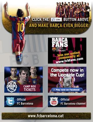 Barcelona no Facebook (Foto: Reprodução)