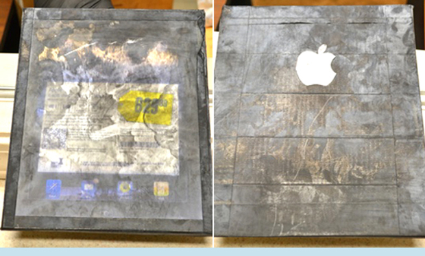 iPad de madeira... Oi? (Foto: Reprodução)